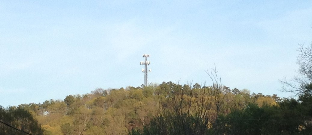 Cell towers in St Elmo, near the Walker county line